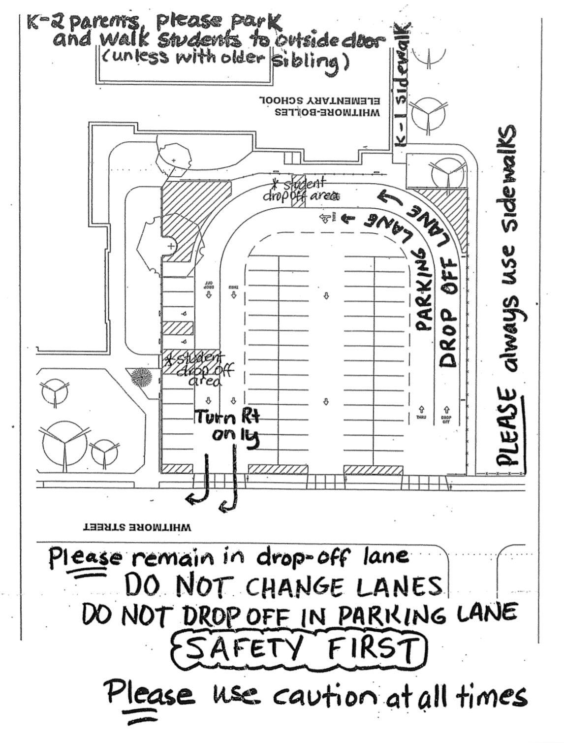 Map of School Parking Lot